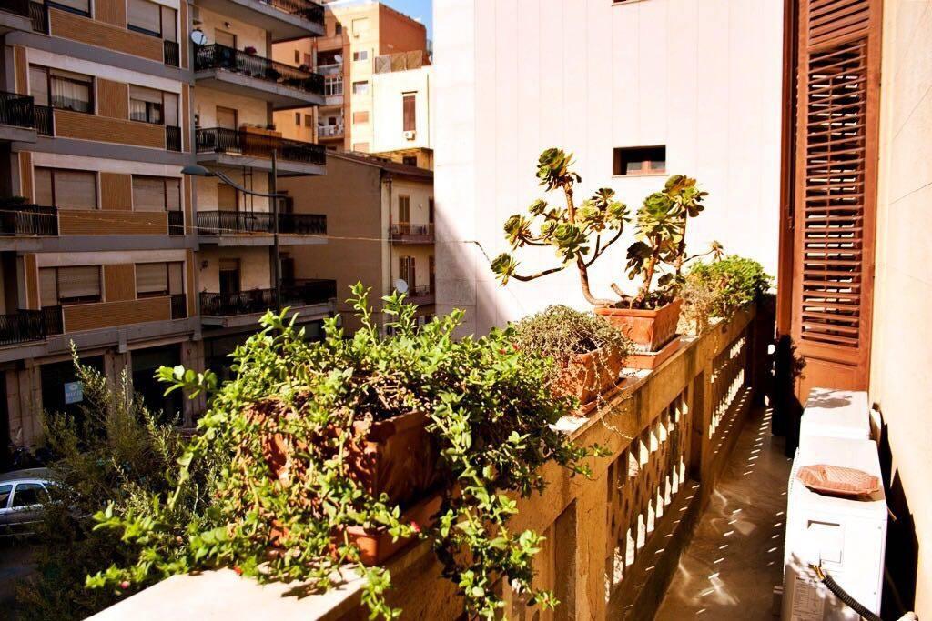 Il balcone delle stanze