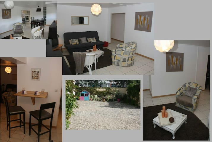 Rouen-Grand appartement cosy avec cour+ Gd parking - Le Petit-Quevilly