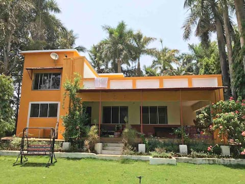 Crimson Fern-A 3 BHK Riverside Eco Homestay Villa.