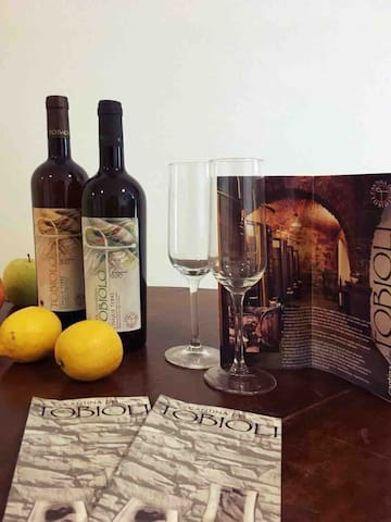 Tobioli is a very fine and soft wine, but above all, it is Bio. You can taste the flavors of the vineyards of Manarola. This selected product is available for sale,For our guests . It's an original gift, and especially a sweet memory of your vacation