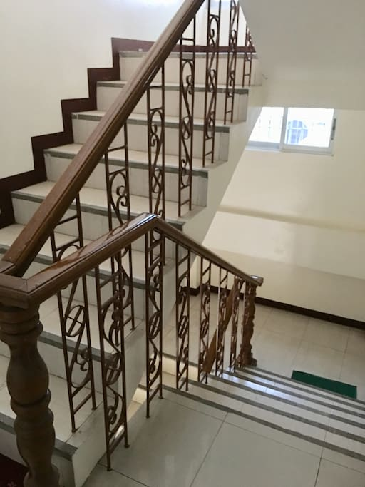The stairs going to the 3rd floor