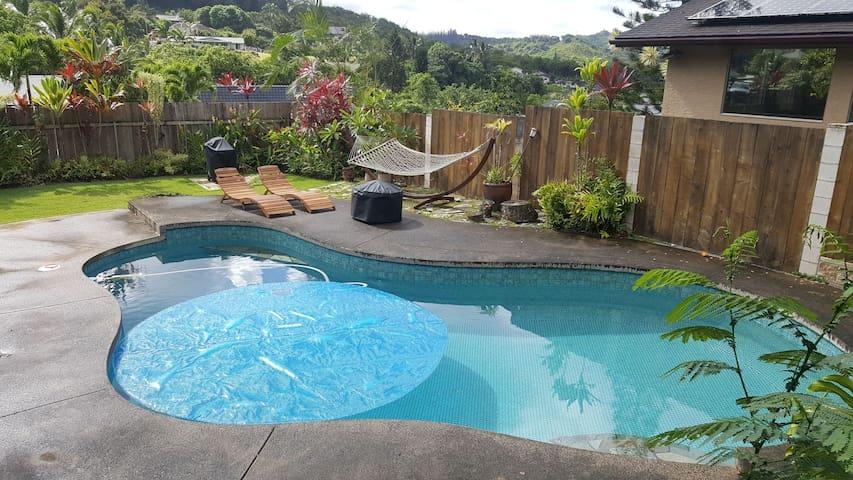 Gorgeous Mountainview Apt in Kailua w/ pool & deck