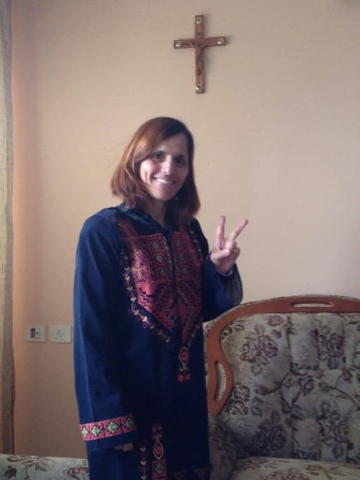 Me in a traditional Palestinian dress