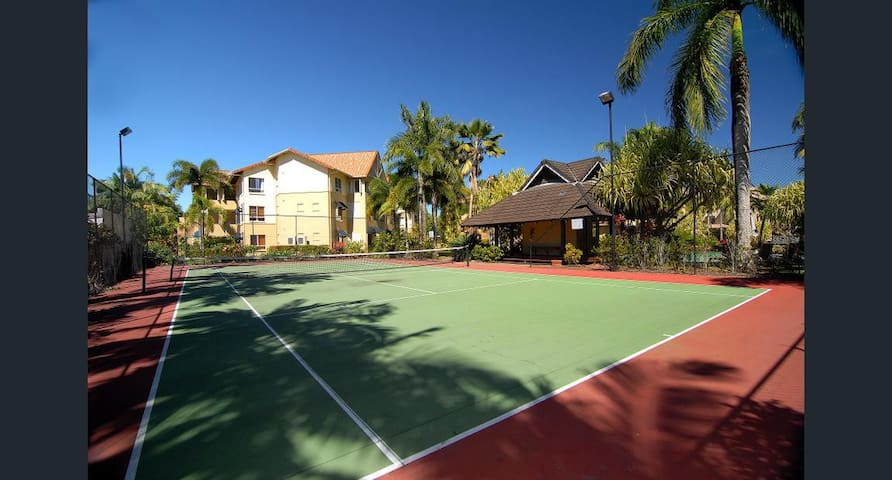 Tennis court in the complex