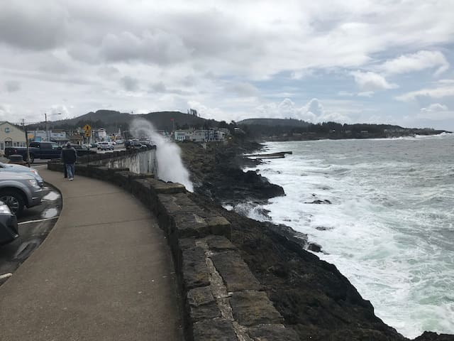 The Spouting Horn is just up the street from us and visitors enjoy the salt mist and amazing natural fountain during stormy seas.
