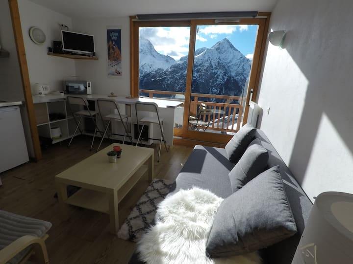 Appartement lumineux, vue magique sur les 2 alpes