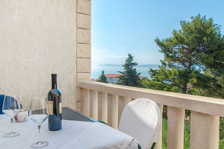 One bedroom Apartment, 150m from city center, seaside in Bol - island Brac, Terrace