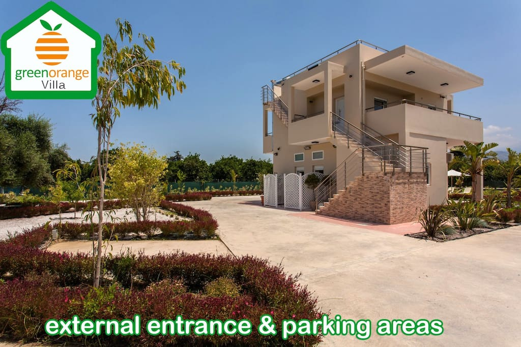 External areas and 3 parking areas