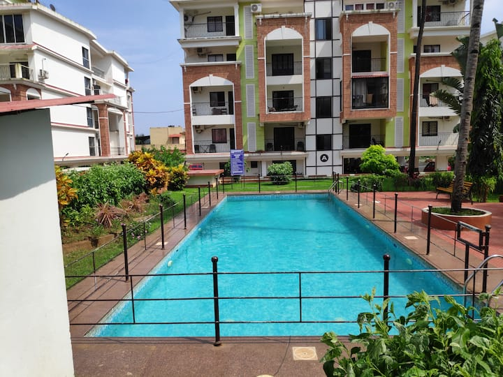 1 BHK apartment with pool in Goa