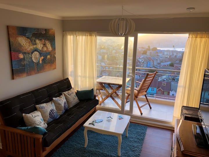 Adorable vista sobre Valparaiso