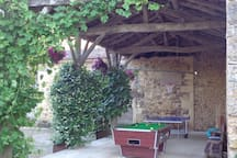 Table tennis, pool table and a variety of activities under cover