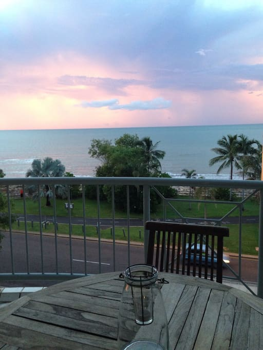 Sunset view from balcony - beautiful