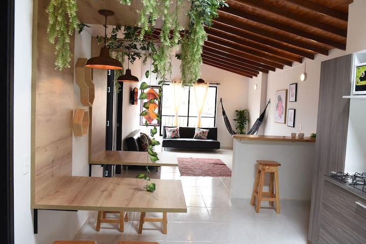 Casa bonita,amplia y acogedora para grupos.
