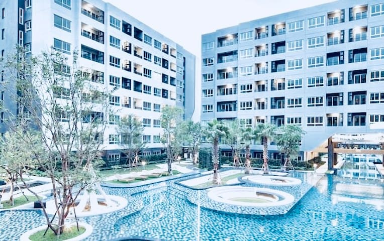 Cozy Cheap ❤️Condo Nearby ❤️Udomsuk BTS Station ❤️