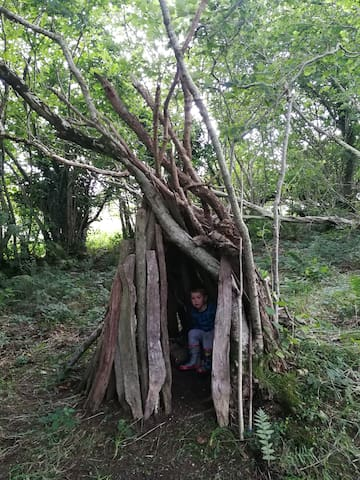 Fun in the wigwam on the common land :)