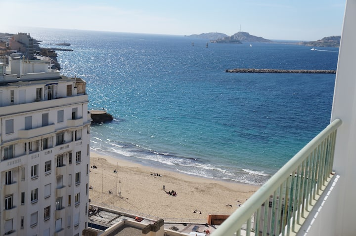 2 Br - Amazing view on sea and Town Pharo/Catalans