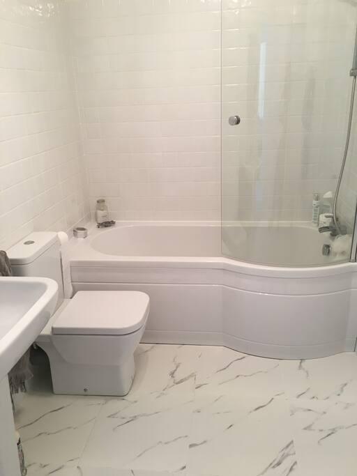 Bathroom totally newly refurbished