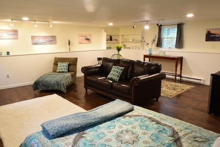 Sweet Suite near beach in quiet wooded setting