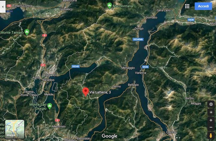 Appartamento tra lago e monti