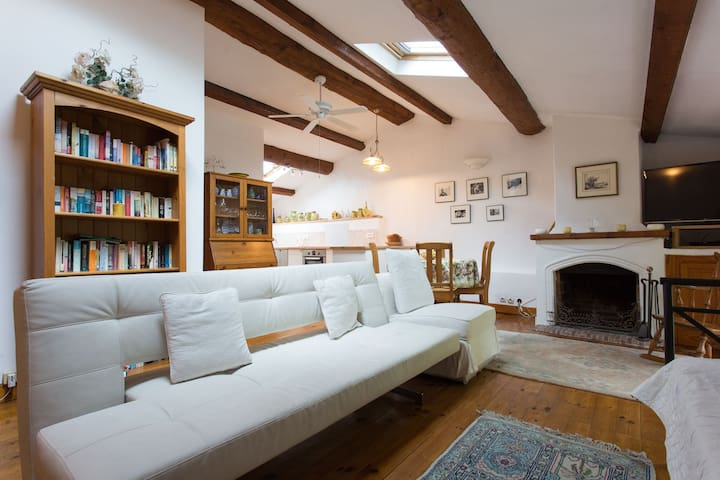 Quaint top floor apartment in heart of Valbonne. - Valbonne - Daire