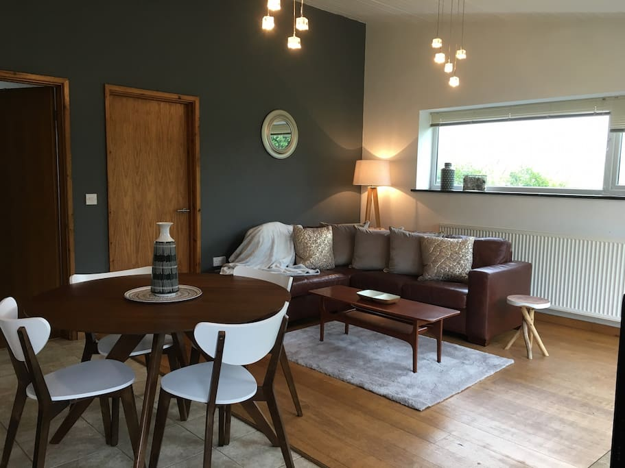 Newly decorated open plan living area