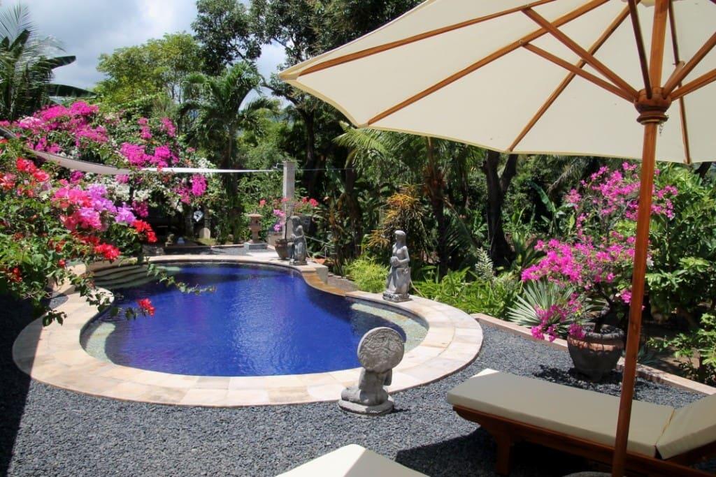 Pool mit Liegemöglichkeit - gemeinsame Nutzung mit Gästen der Villa
