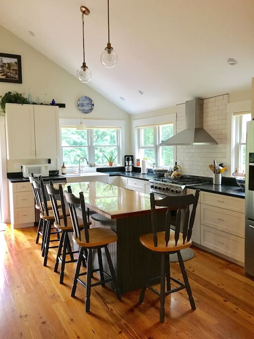 Dream kitchen featuring all new stainless steel appliances