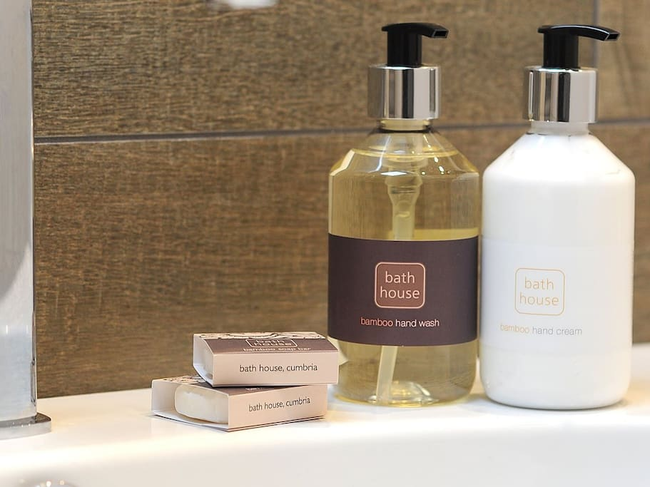 Complimentary toiletries from The Bath House