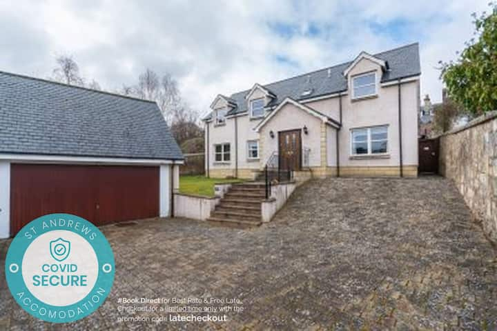 Dempster Lodge nr Old Course - Sleeps 10 | Parking