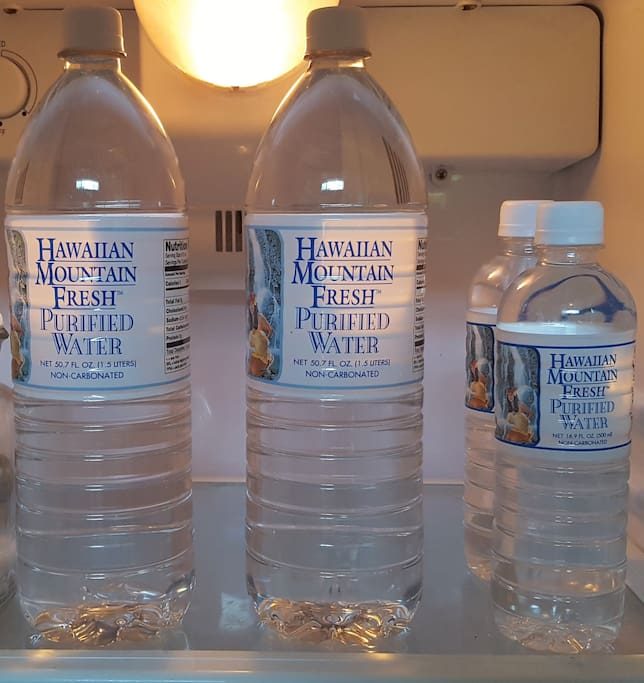 Complimentary Menehune Water is included in your refrigerator.