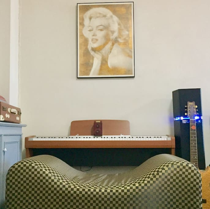 Piano corner for music lover