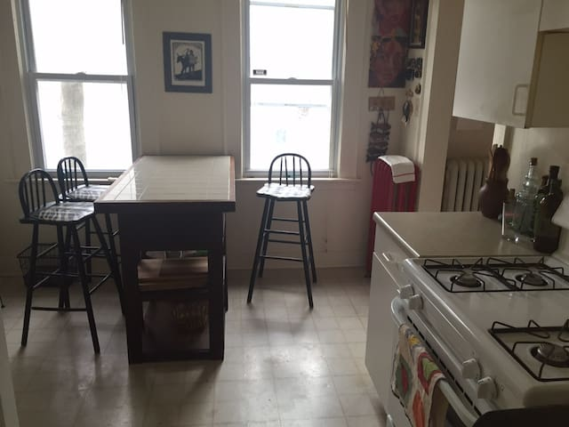 Spacious room in great apartment - New Haven - Appartement