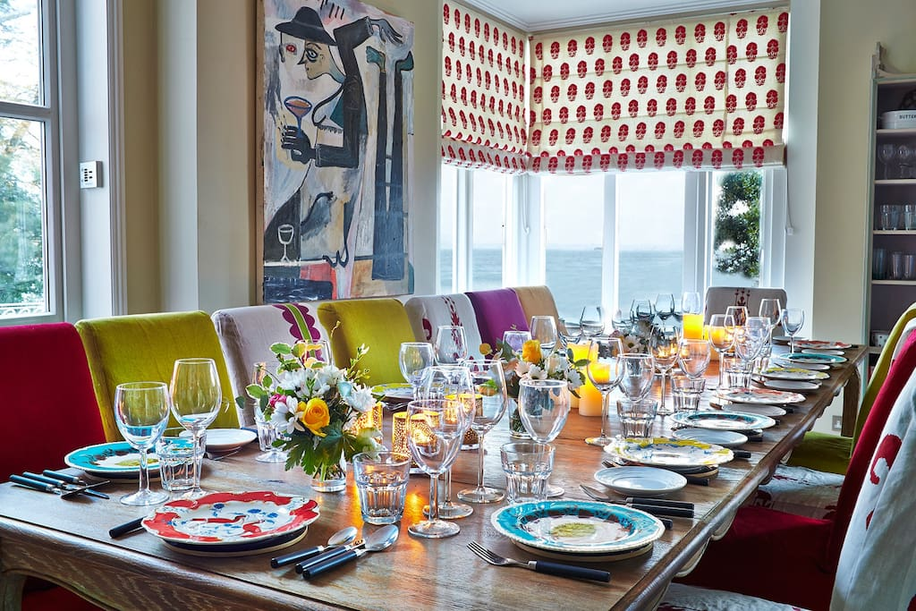 Dining Area with glorious sea views