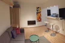 Living area in evening