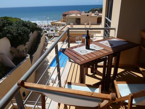 Ferienwohnung direkt am Strand mit Meeresblick