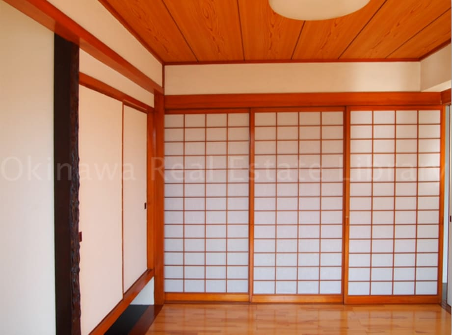 Authentic Japanese paper doors for that traditional feel!