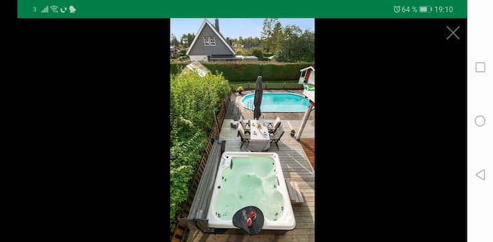 Villa with pool and jacuzzi and Bastu