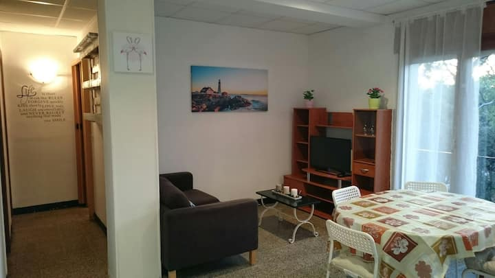 Apartment with nature and 15 min from the beach