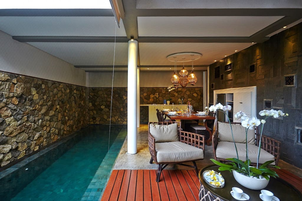 Living Room & Pool