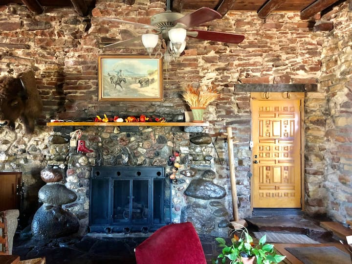 1928 Historic Dude Ranch Stone Lodge Home