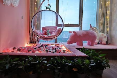 高新区 影院房 粉色海洋球 网红拍照 小吃街旁 文理学院对面 水木清华北门