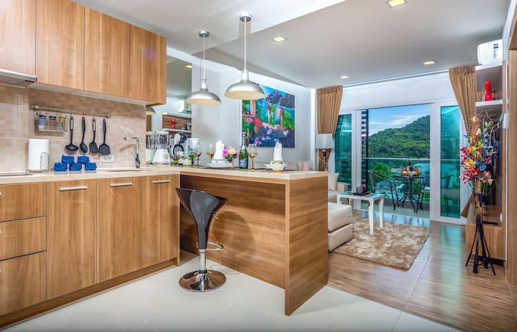 Mountain View 1 Bedroom Apartment, 6 Fl. @Nai Harn