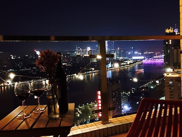 Canton Tower,Pazhou Interntn Exhibition,Zhujiang - 广州 - Apartment