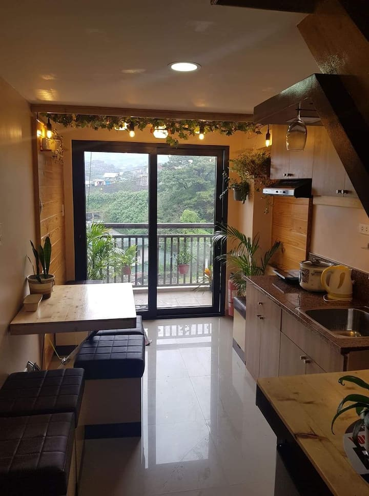 Lush Country Home Style Loft.  Real Baguio Vibe