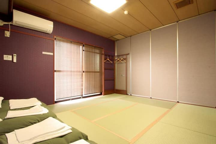 西宮駅まで5分! Free wi-fi, Japanese style room (up to 3 guests)