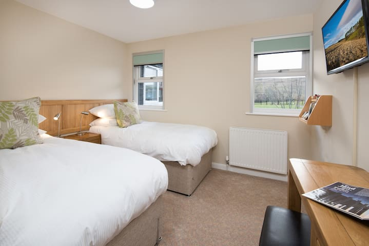 Stylish guest room in Northumberland countryside