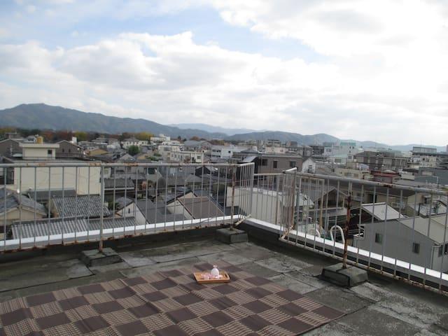 Kyoto 360view! Imperial Palace+bike #Udob - Kyōto-shi - Apartment