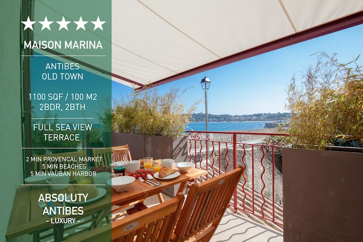 New-Luxury old Antibes - 1st Row Sea View Terrace