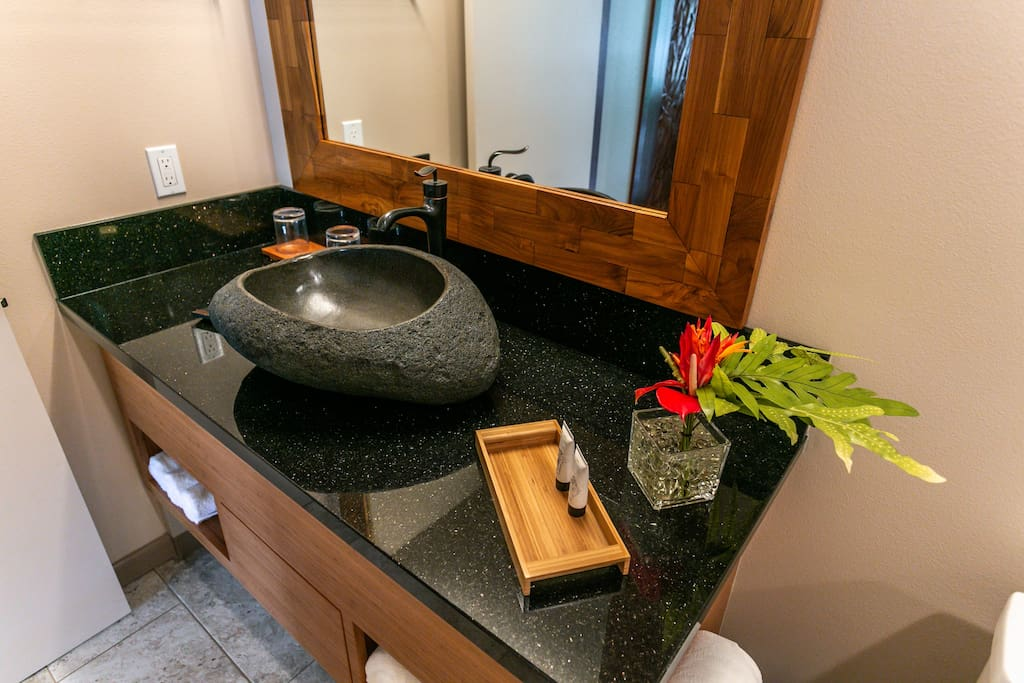 Natural Stone Sink and Granite Counter Top
