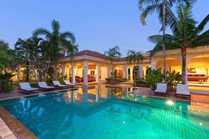 天堂般精品别墅,超大游泳池,花园,拉威